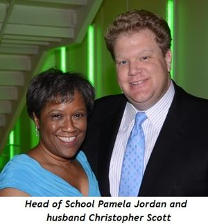 Blog 5 - Pamela Jordan (Head of School) and husband Christopher Scott