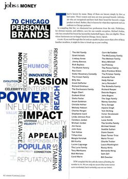 TCW Magazine's 70 Chicago Personal Brands