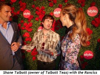 Blog 4 - Shane Talbott (owner of Talbott Teas) with the Rancics