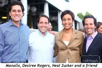 Blog 6 - Manolis, friend, Desiree Rogers and Neal Zucker