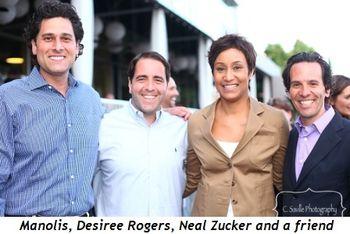 Blog 6 - Manolis, friend, Desiree Rogers and Neal Zucker
