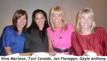 Blog 1 - Nina Mariano, Toni Canada, Jan Flanagan and Gayle Anthony