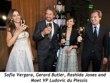Blog 2 - Sofia Vergara, Gerard Butler, Rashida Jones and Moet VP Ludovic du Plessis