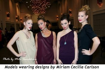 Blog 2 - Models wearing designs by Miriam Cecilia Carlson