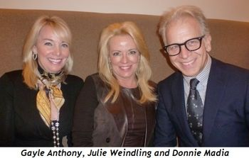 Blog 1 - Gayle Anthony, Julie Weindling and Donnie Madia