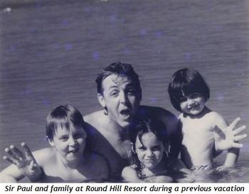 Blog 2 - Sir Paul and family at Round Hill in 2011