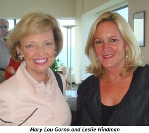 Mary Lou Gorno and Leslie Hindman