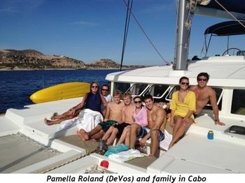 Pamella Roland (DeVos) and family in Cabo