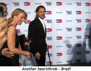 Blog 4 - Another heartthrob, Brad!