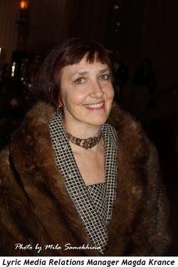 Blog 10 - Lyric Manager of Media Relations, Magda Krance