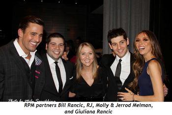 Blog 1 - RPM partners Bill Rancic, RJ, Molly, and Jerrod Melman and Giuliana Rancic