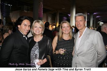 Jesse Garza and Pamela Sage with Tina and Byron Trott