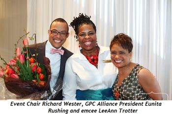Blog 1 - Event Chair Richard Wester, GPC Alliance President Eunita Rushing and emcee LeeAnn Trotter