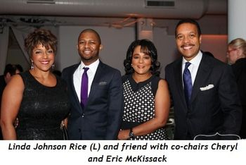 Blog 1 - Linda Johnson Rice (L) and friend with co-chairs Cheryl and Eric McKissack