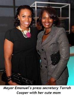 Blog 2 - Tarrah Cooper, Mayor's Press Secretary, with her cute mom