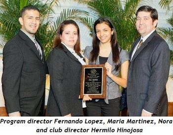 Blog 3 - Program Director Fernando Lopez, Maria Martinez, Nora and Club Director Hermilo Hinojosa