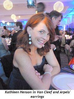 Blog 5 - Kathleen Henson in Van Cleef & Arpels' earrings
