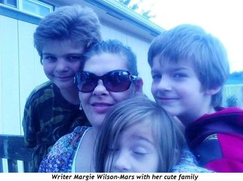 Writer Margie Wilson-Mars with her cute family