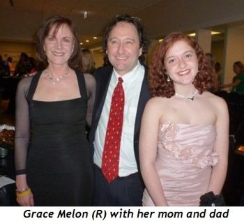 Blog 3 - Grace Melon (R) with her mom and dad