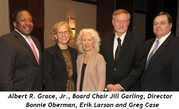 Blog 2 - Albert R. Grace, Jr., Board Chair Jill Garling, Director Bonnie Oberman, novelist Erik Larson, Greg Case