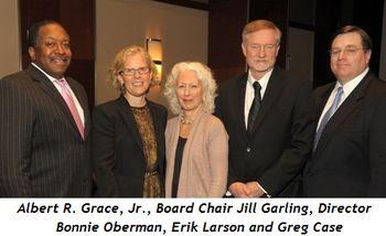 Blog 2 - Albert R. Grace, Jr., Board Chair Jill Garling, Director Bonnie Oberman, novelist Erik Larson, Greg Case