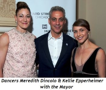 Blog 2 - Dancers Meredith Dincolo and Kellie Epperheimer with the Mayor