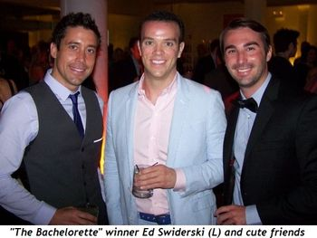 Blog 11 - The Bachelorette's Ed Swiderski (L) and cute friends