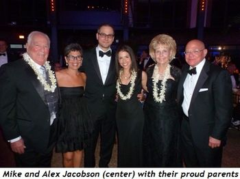Blog 7 - Mike and Alex Jacobson (center) with their proud parents