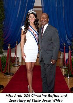 Blog 5 - Miss Arab USA, Christina Rafida, and Secretary of State Jesse White