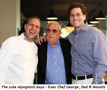 Blog 2 - The cute Alpogianis boys, Executive Chef George, Dad and Manolis
