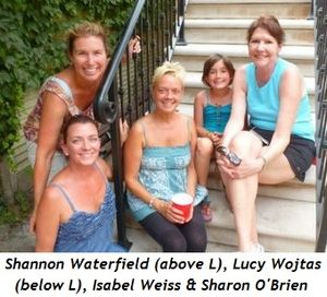 Blog 1 - Shannon Waterfield (above L), Lucy Wojtas (below L), Christina Wojtas, Isabel Weiss, Sharon O'Brien