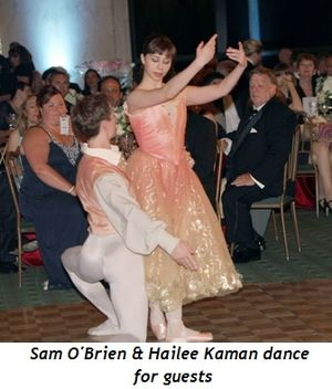 Blog 5 - Sam O'Brien and Hailee Kaman dance for guests