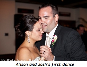 Blog 1 - Alison and Josh's first dance