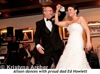 Blog 2 - Alison dances with proud dad Ed Howlett