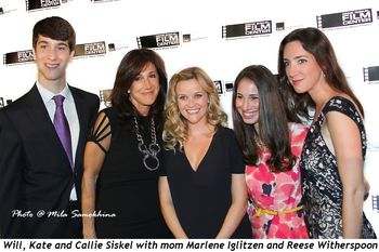 Blog 1 - Will, Kate and Callie Siskel and mom Marlene Iglitzen with Reese