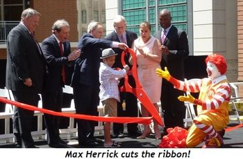 Blog 1 - Max Herrick cuts the ribbon!