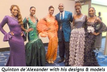 Blog 6 - Quinton de' Alexander with his designs and models