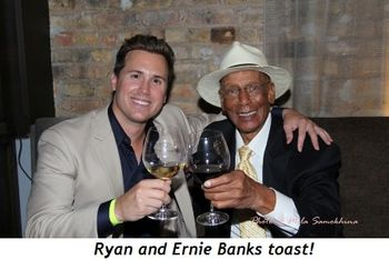 Blog 3 - Ryan and Ernie Banks toast!