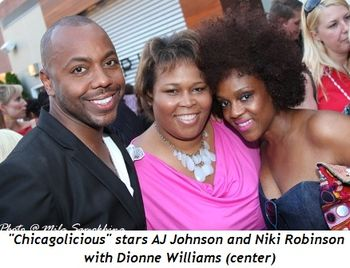 Blog 6 - Chicagolicious' AJ Johnson and Niki Robinson with Dionne Williams (center)