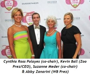 Blog 1 - Cynthia Ross Polayes (co-chair), Kevin Bell (Zoo Pres-CEO), Suzanne Meder (co-chair), Abby Zanarini (WB Pres.)