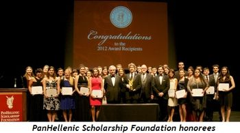 Blog 2 - PanHellenic Scholarship Foundation honorees