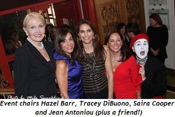 Blog 1 - Event chairs Hazel Barr, Tracey DiBuono, Saira Cooper and Jean Antoniou