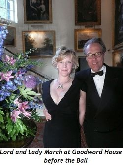 Blog 4 - Lord and Lady March at Goodwood House before Ball
