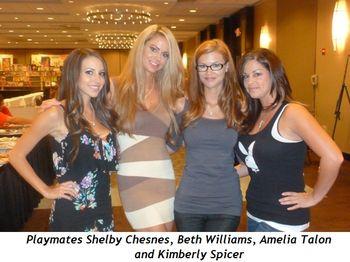 Blog 1 - Playmates Shelby Chesnes, Beth Williams, Amelia Talon and Kimberly Spicer