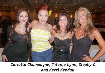 Blog 12 - Carlotta Champagne, Titania Lynn, Stephy C., Kerry Kendall (Miss Sept. 1990)