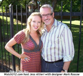 Blog 4 - Watch312 Host Jess Altieri with designer Mark Roscoe