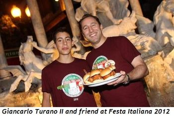 Blog 6 - Giancarlo Turano II and friend at Festa 2012