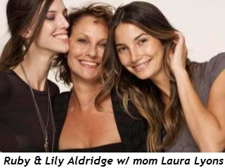 Blog 2 - Ruby and Lily Aldridge with mom Laura Lyons