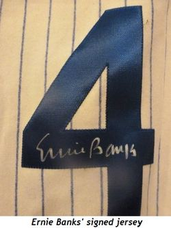 Blog 7 - Ernie Banks' signed jersey