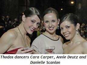 Blog 4 - Thodos dancers Cara Carper, Annie Deutz and Danielle Scanlon
